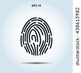 fingerprint icon   Shutterstock .eps vector #438615982