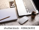 laptop  mouse  mobile phone ...   Shutterstock . vector #438626302