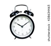 alarm clock isolated on white... | Shutterstock . vector #438634465