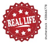 real life grunge stamp | Shutterstock . vector #438666778