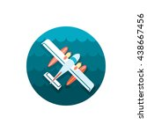 hydroplane vector icon. travel. ... | Shutterstock .eps vector #438667456