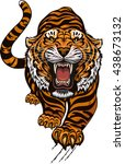 tiger color tattoo | Shutterstock .eps vector #438673132