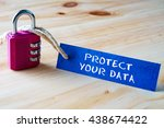 words protect your data written ... | Shutterstock . vector #438674422