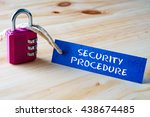 words security procedure... | Shutterstock . vector #438674485