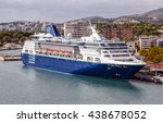 Small photo of Palma de Mallorca, Spain - October 2, 2015: Pullmantur Empress port of Palma de Mallorca Spain, Mediterranean cruise with 48563 tonnage and a capacity of 1877 passengers