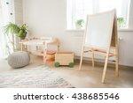 kindergarten room with easel... | Shutterstock . vector #438685546