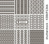 set of 9 black and white...   Shutterstock .eps vector #438691366