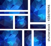 horizontal banners set with... | Shutterstock .eps vector #438698446