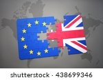 puzzle with the national flag... | Shutterstock . vector #438699346