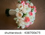 close up of bridal bouquet of... | Shutterstock . vector #438700675