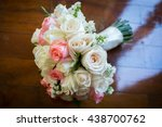 close up of bridal bouquet of... | Shutterstock . vector #438700762