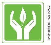 eco care vector | Shutterstock .eps vector #43870912