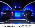car meter in blue light tone.   Shutterstock . vector #438722932