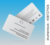 two realistic business cards... | Shutterstock .eps vector #438727426