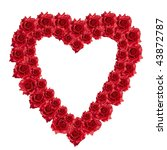 red rose heart - stock photo