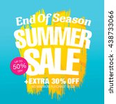 end of season. summer sale.... | Shutterstock .eps vector #438733066