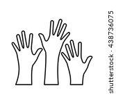 hand design. human body concept....   Shutterstock .eps vector #438736075
