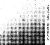grunge halftone dots texture... | Shutterstock . vector #438736282