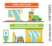 gas and petrol station concept  ... | Shutterstock .eps vector #438736852