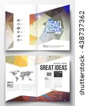 set of business templates for... | Shutterstock .eps vector #438737362