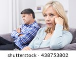 mature couple with relationship ... | Shutterstock . vector #438753802