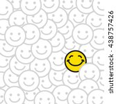 positive smile faces abstract... | Shutterstock .eps vector #438757426