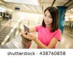 woman check on cellphone | Shutterstock . vector #438760858