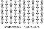 seamless black and white pattern | Shutterstock . vector #438762376