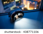 virtual reality headset with... | Shutterstock . vector #438771106