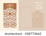 wedding invitation or greeting... | Shutterstock .eps vector #438773662