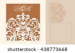 lazercut vector wedding... | Shutterstock .eps vector #438773668