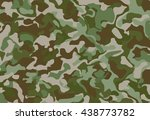 camouflage military background... | Shutterstock .eps vector #438773782