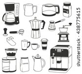 big set of coffee equipment.... | Shutterstock .eps vector #438775615