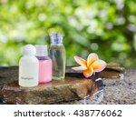 liquid soap gel bottle group on ... | Shutterstock . vector #438776062