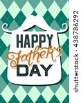 happy father's day greeting... | Shutterstock .eps vector #438786292