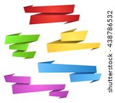 color paper banner shapes | Shutterstock .eps vector #438786532