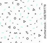 geometric vector pattern ... | Shutterstock .eps vector #438789778