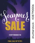 vector summer sale flyer | Shutterstock .eps vector #438790006