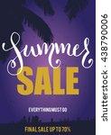 vector summer sale flyer | Shutterstock .eps vector #438790006