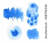 illustration of watercolor spots | Shutterstock . vector #438796336