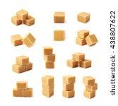 almond butter toffee cube... | Shutterstock . vector #438807622