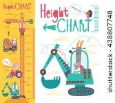 kids height chart. vector...   Shutterstock .eps vector #438807748