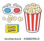 3d stereo glasses  tickets ... | Shutterstock .eps vector #438809812