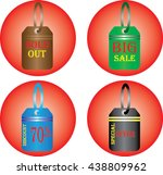 discount and price tags for web ... | Shutterstock .eps vector #438809962