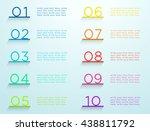 infographic steps on shelves... | Shutterstock .eps vector #438811792