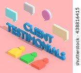 client testimonials   3d... | Shutterstock . vector #438816415