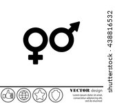 web line icon. gender symbol ... | Shutterstock .eps vector #438816532