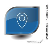 map pointer flat line icon ... | Shutterstock .eps vector #438819136