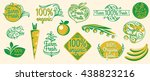 natural organic product labels  ... | Shutterstock .eps vector #438823216