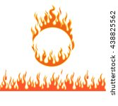 fire flames of different shapes ... | Shutterstock .eps vector #438825562